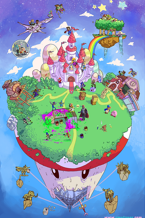 """World of Nintendo"" 11x17"" Print"