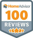 Home advisor 100 reviews badge