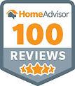 Home advisor 100 reviews badge