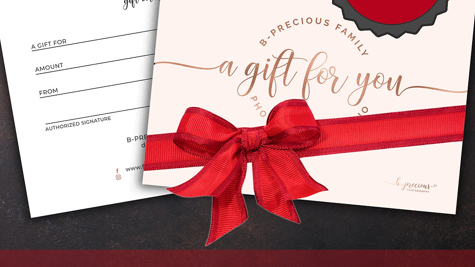 $100 Holiday Gift Certificate (Printable)