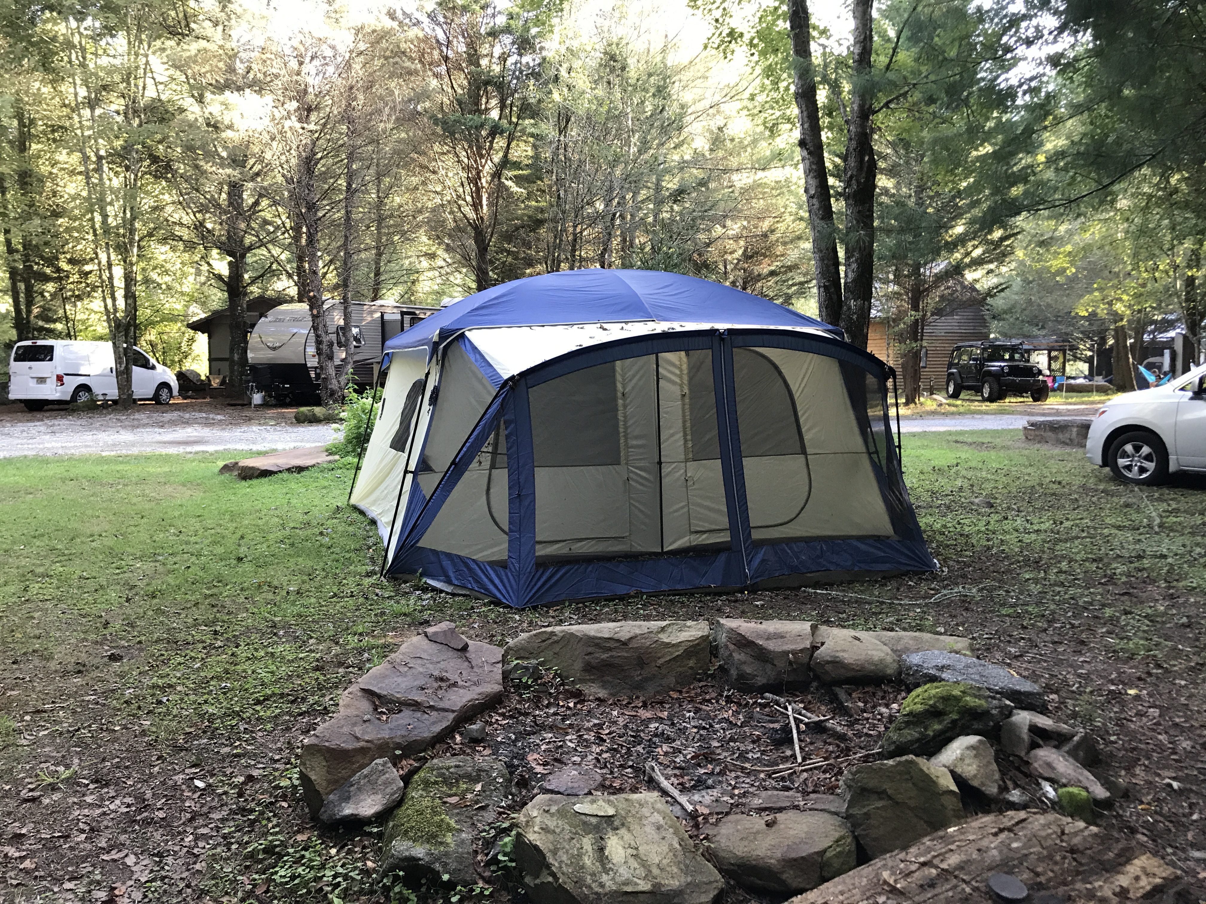 RIVER CAMPGROUND. Pre-assembled Cabin Tent : river tent - memphite.com