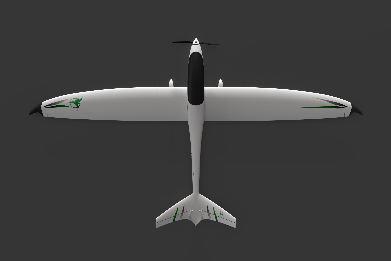 Model V - top view