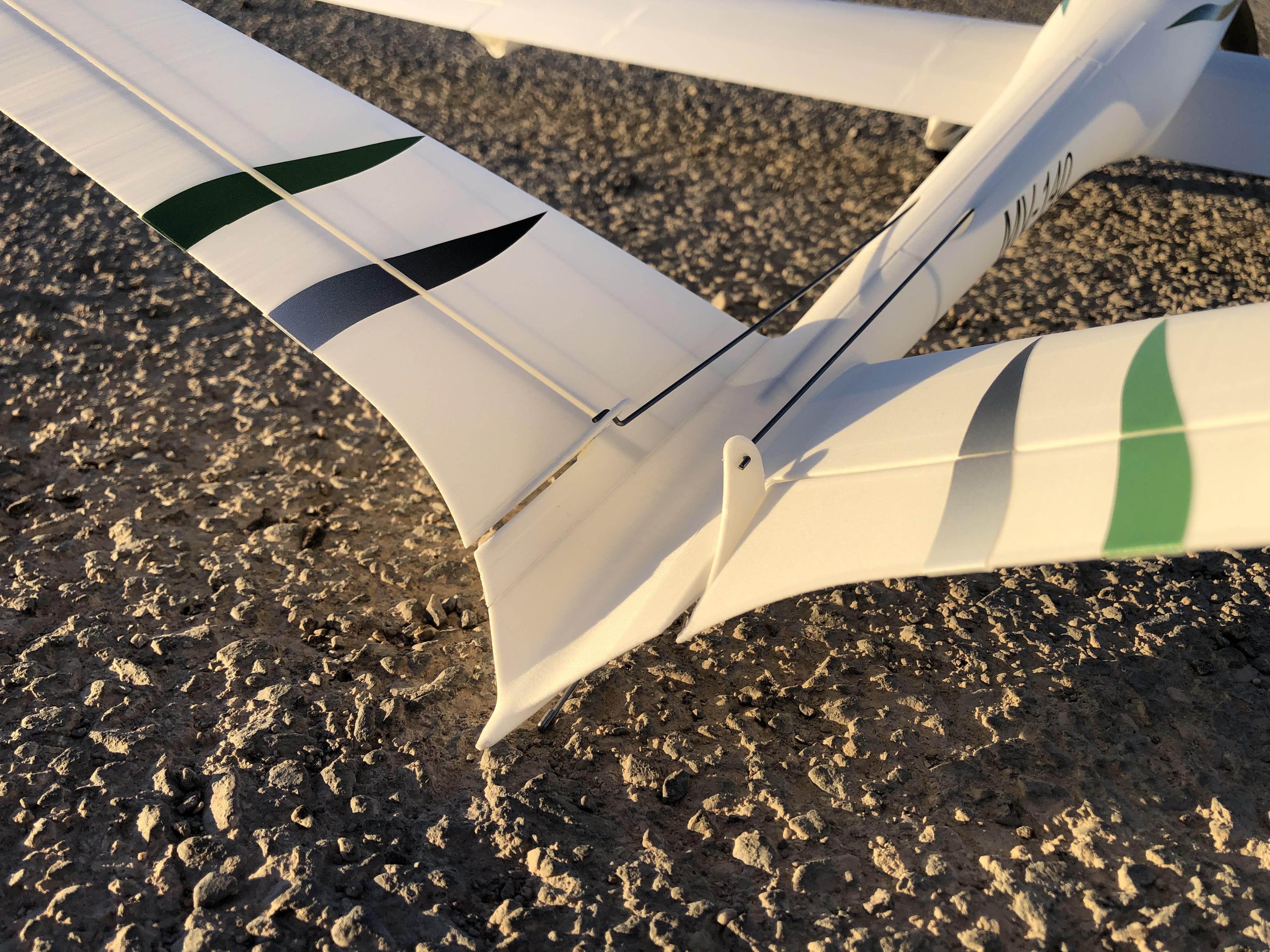 V tail of the model V