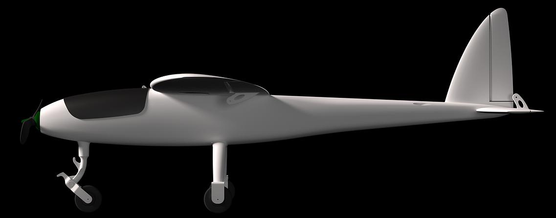 3D printed plae eclipson model Y