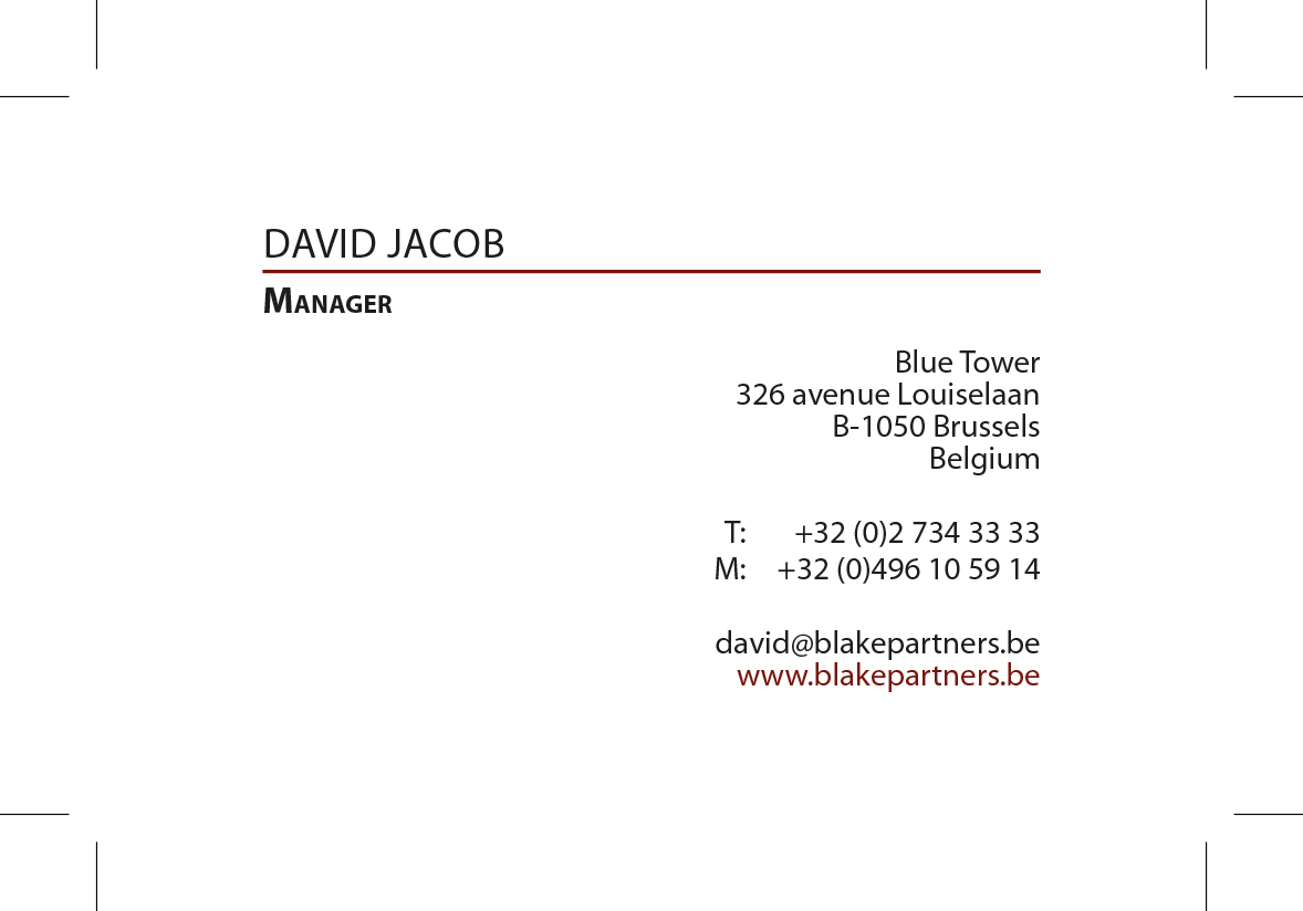 Business card recto