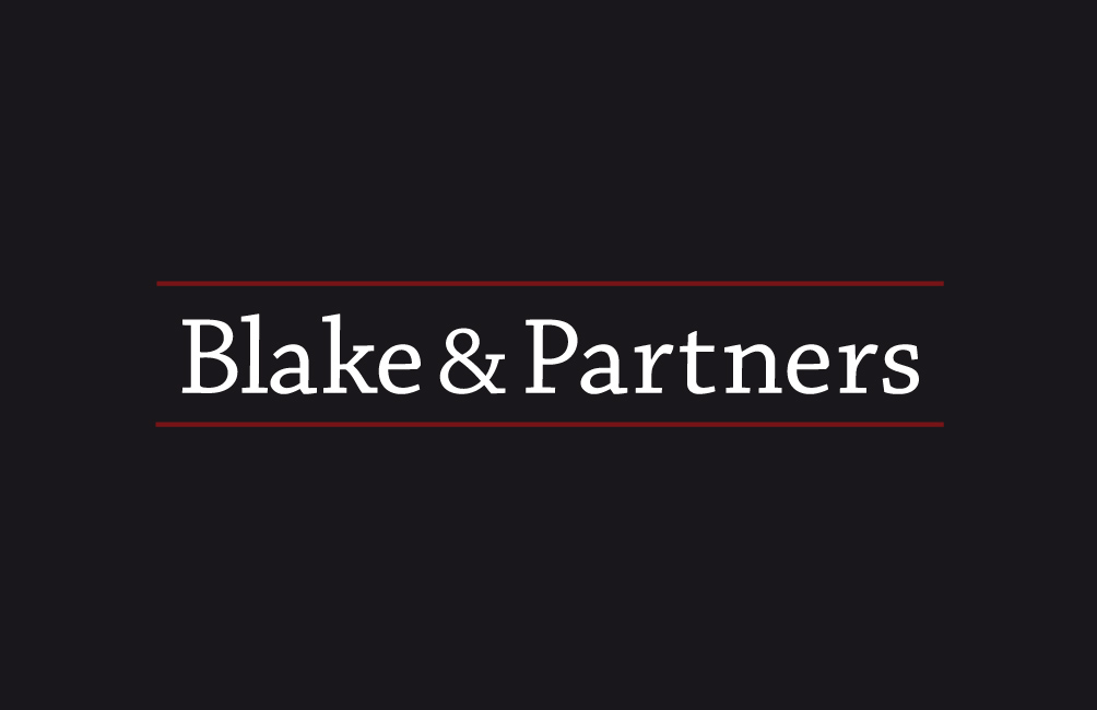 Business card for Blake & Partners