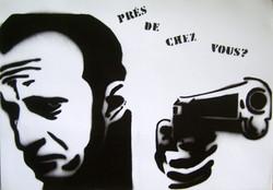 Benoît Poelvoorde stencil 2006