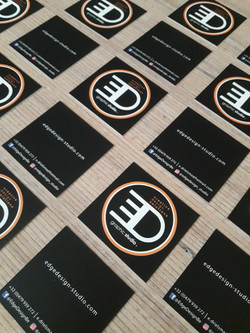 Edge Design business square cards