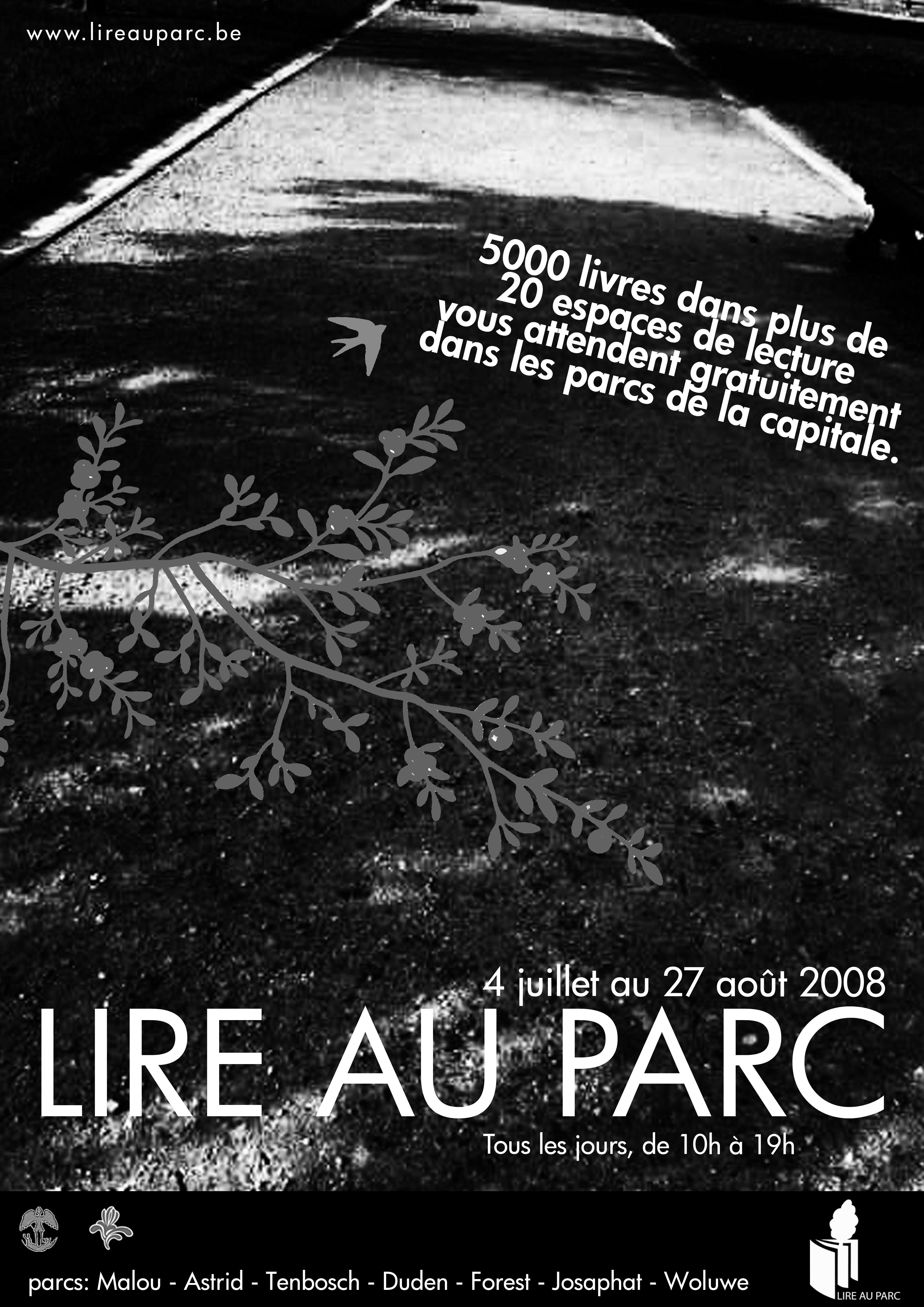 Poster lire au parc 2008