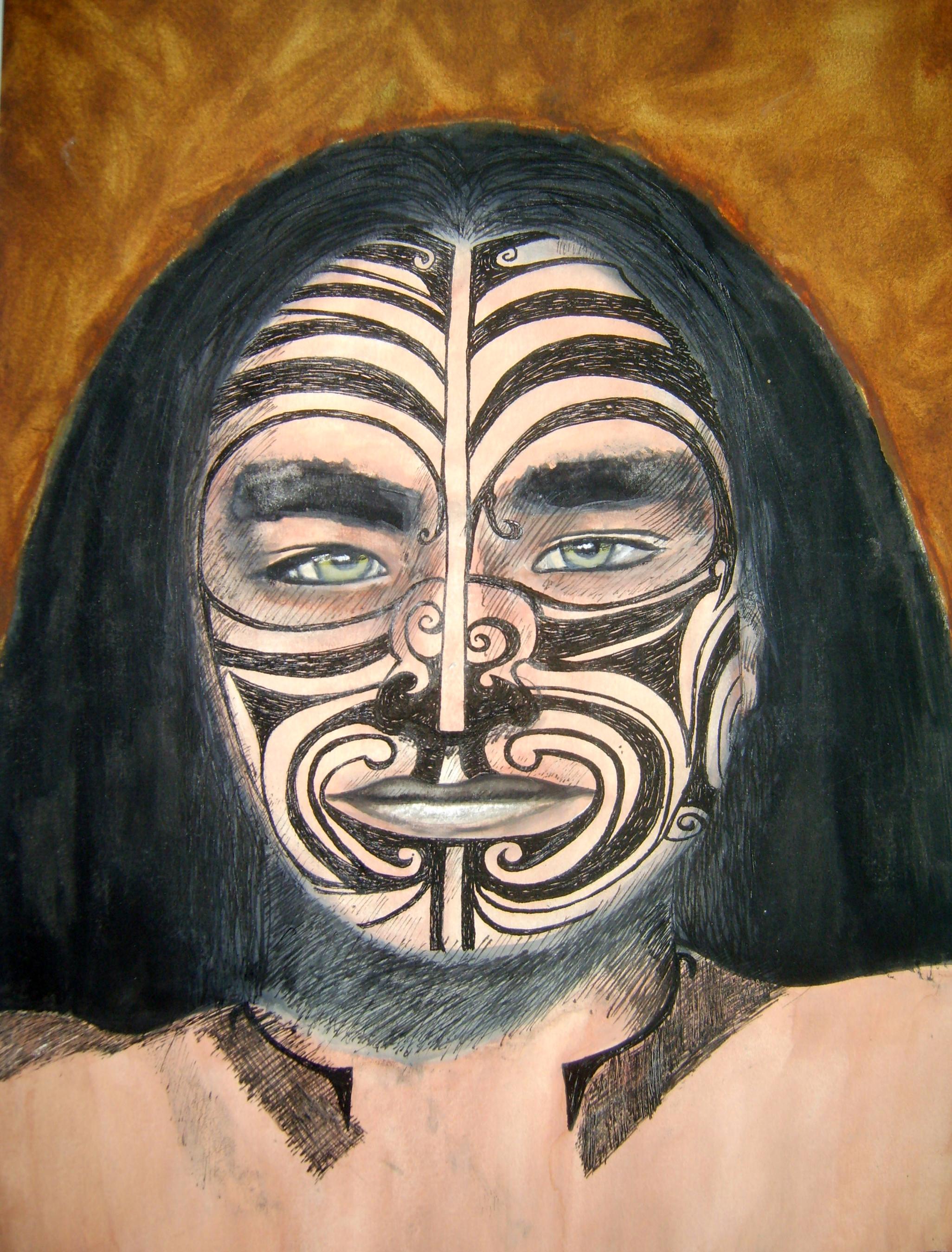 Maori acrylic painting 2006