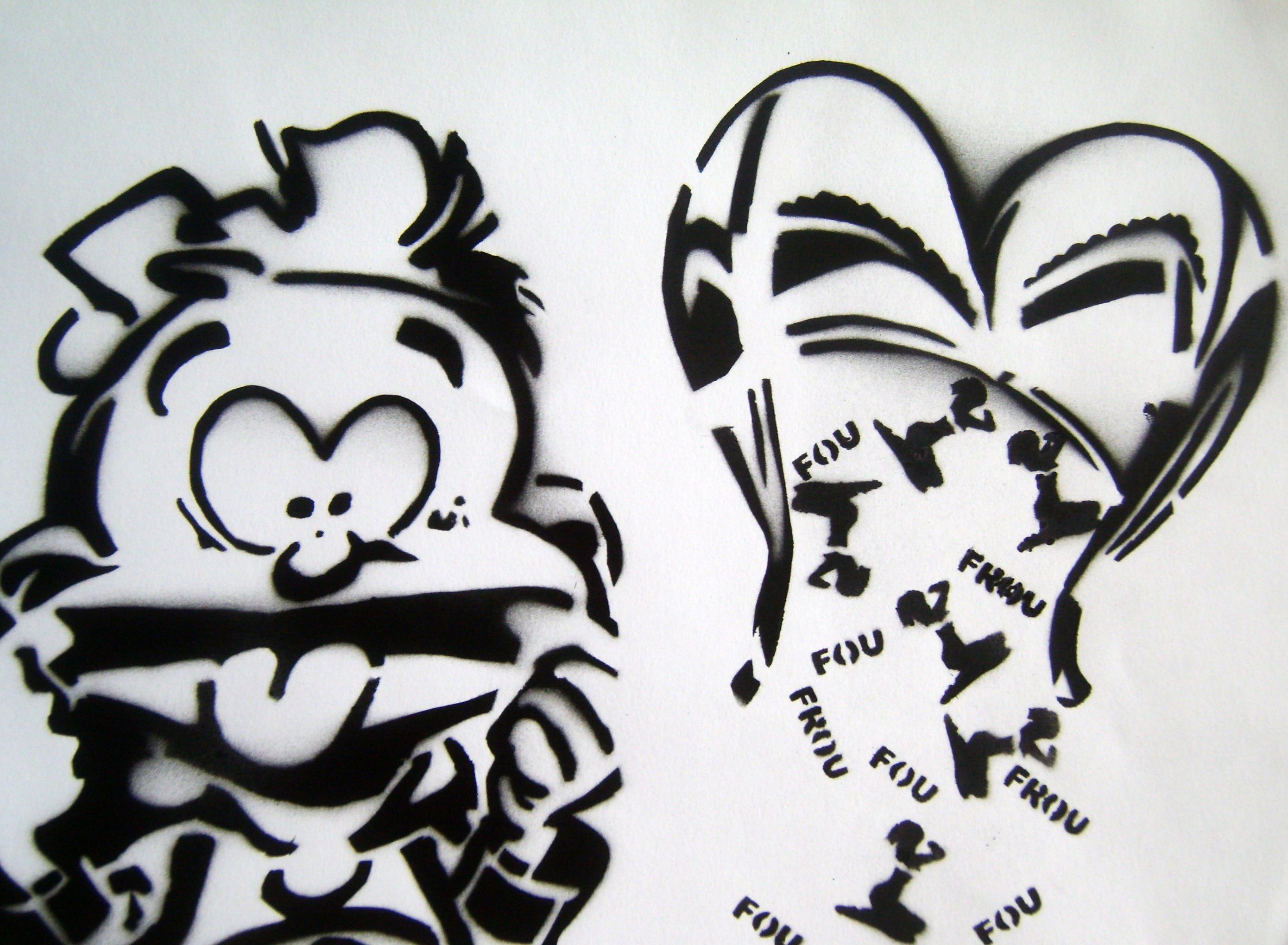 Le Petit Spirou stencil 2006