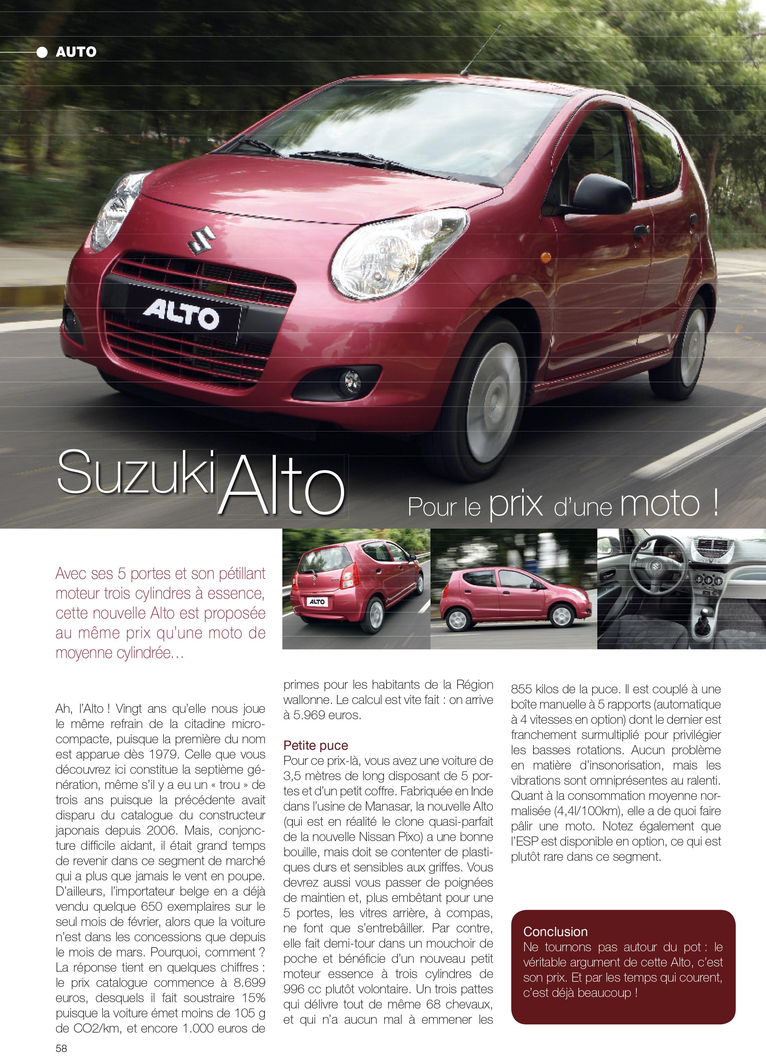 Maxipress - CityMag Suzuki Alto layout