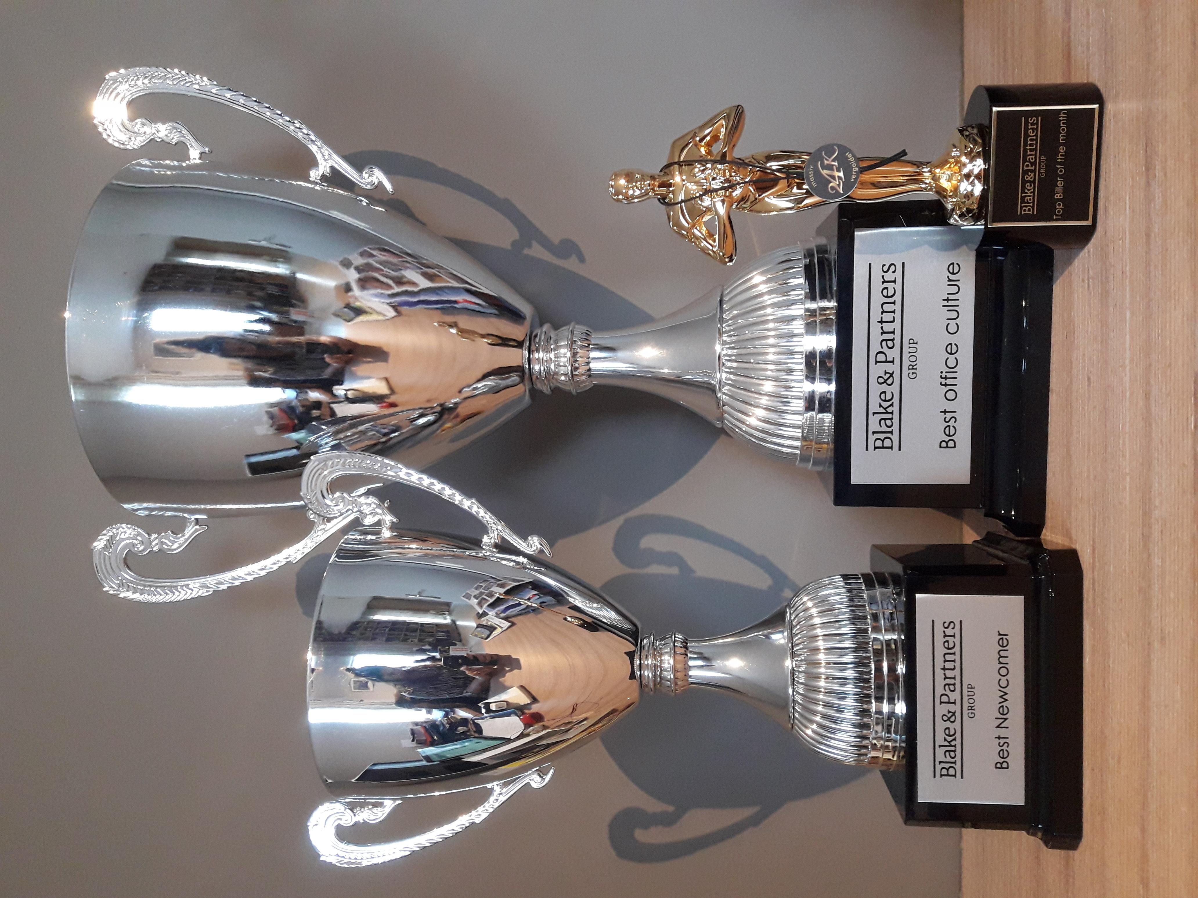 Oscar trophees gold 24K & silver Cup