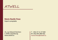 Atwell business card