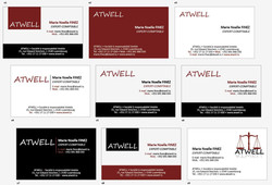 Atwell business cards & logo - 2012