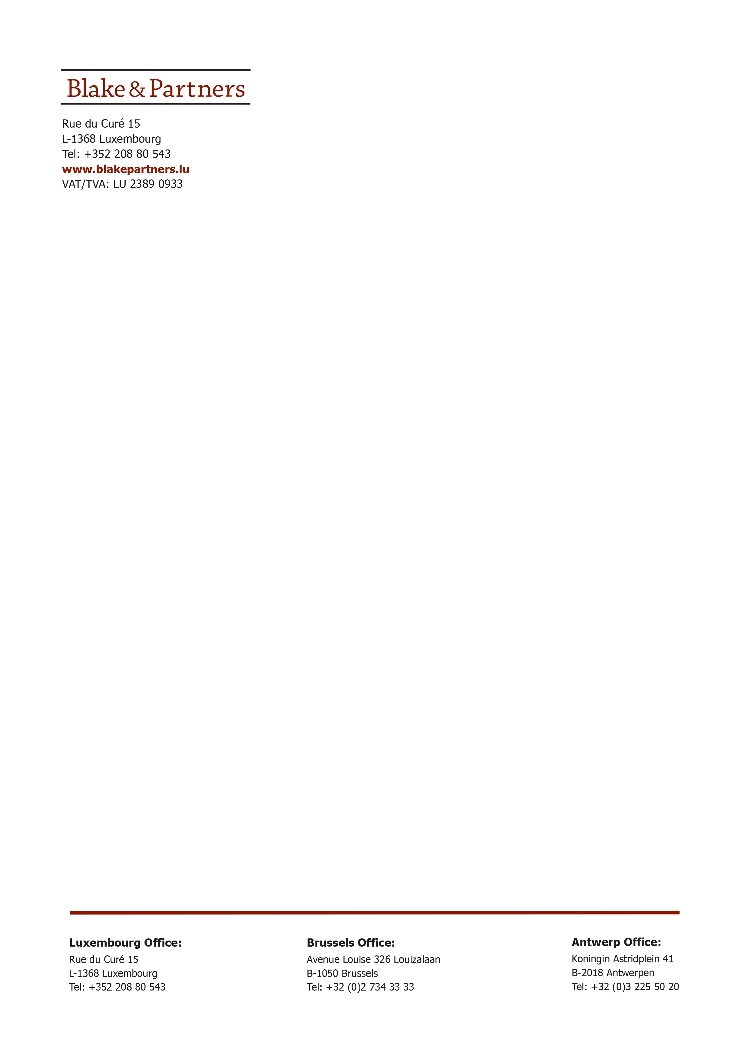 LETTERHEAD A4 Luxembourg