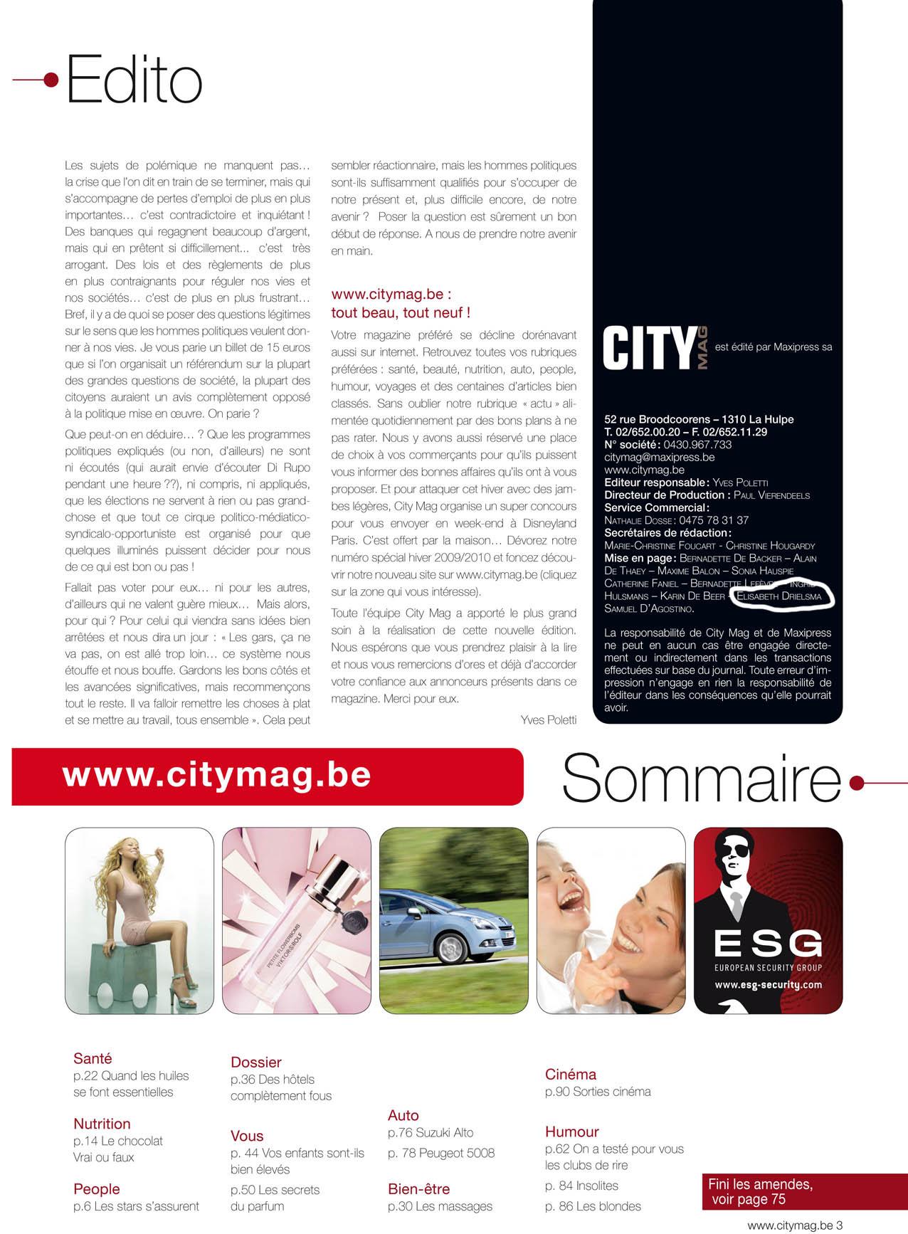 CityMag Summary 2009-2010