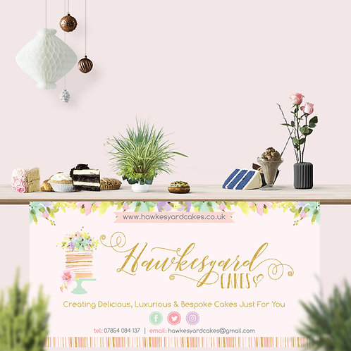 Large PVC Table Banner