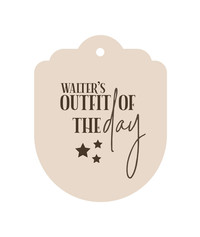 OOTD Tag with Stars
