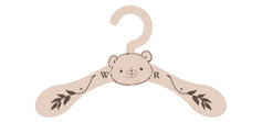 Nusery Outfit Hanger- Bear