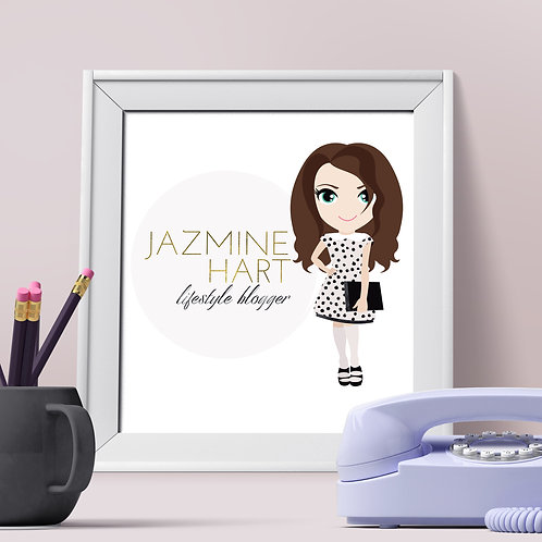 Pre-made Character Logo Design - Great for Bloggers!