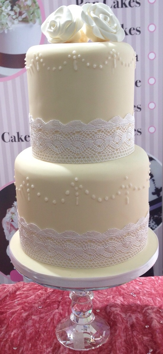 Two Tier Lace Cake