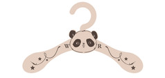 Nusery Outfit Hanger- Panda