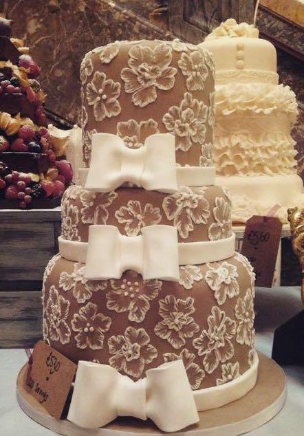 Coffee & Ivory Wedding Cake