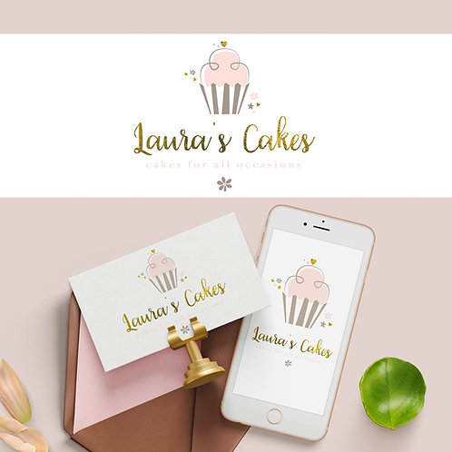 Pre-made Cupcake Logo Design - Great for Bakers!