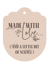 Made with Love and Science IVF Nursery Wall Plaque