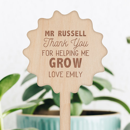 Thank You For Helping Me Grow Gift - Plant / Flower Pick