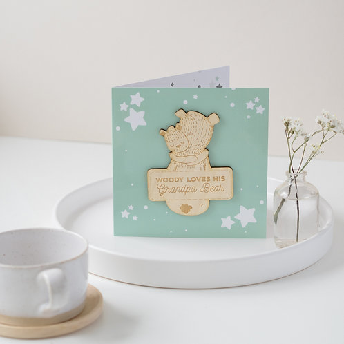 Personalised Father's Day Card / Pocket Hug / Birthday Card with Hugging Bears