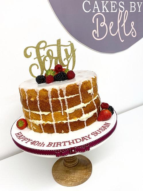 'Naked' style cake