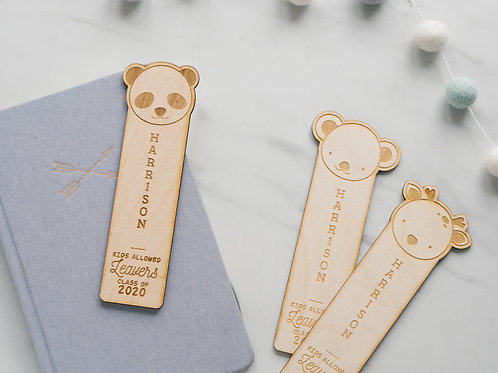 Wooden Bookmark - Teacher Gift / Nursery or School Leavers Keepsake