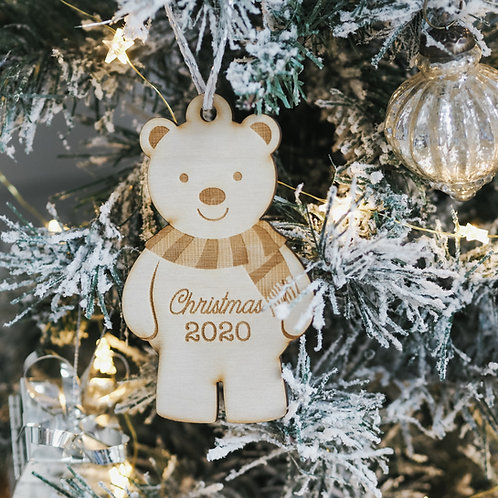 Polar Bear Christmas Bauble Gift - Christmas 2020 with Card Poem