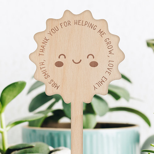 Thank You For Helping Me Grow - Teacher Gift Plant Pick