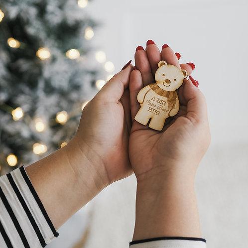 A Big Polar Bear Hug - Christmas Little Pocket Hug Token - Christmissing You
