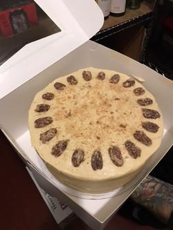 Aleya baking cake done