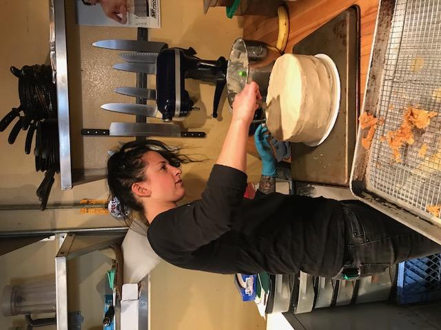 Aleya baking cake