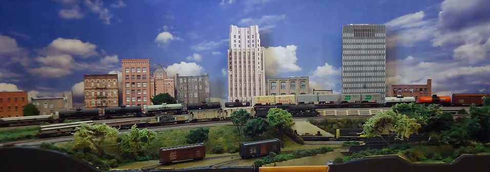 model railroad background buildings and backdrop