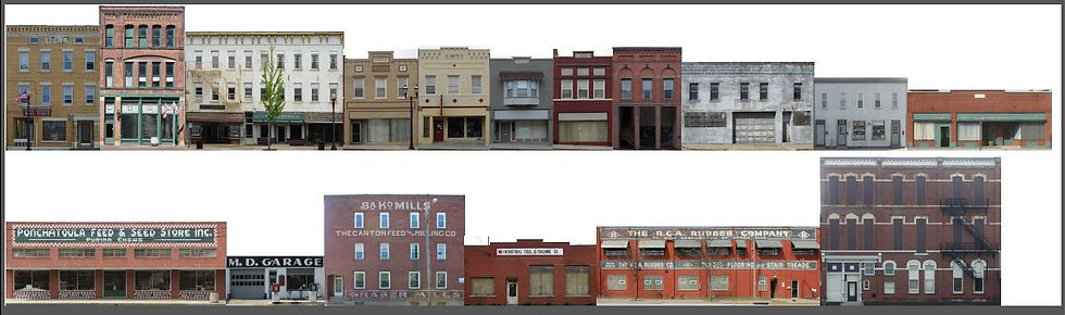 O scale Commercial Fronts