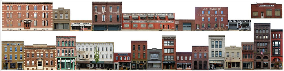 #600 O scale Commercial Fronts