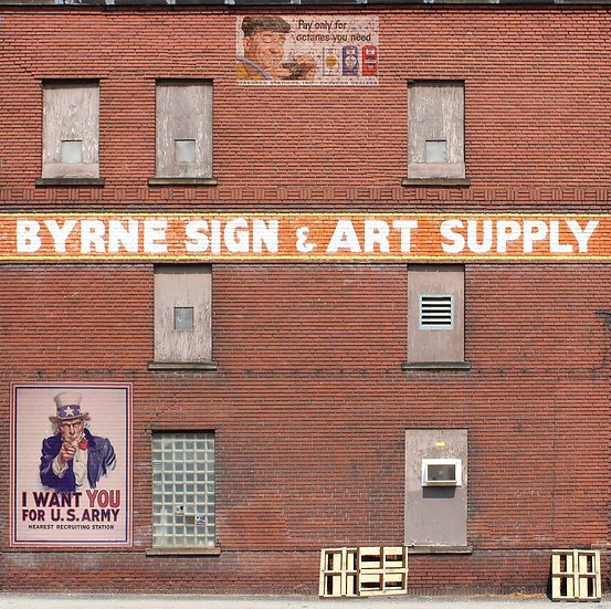 # 324 O Scale BYRNE SIGN Background building flat