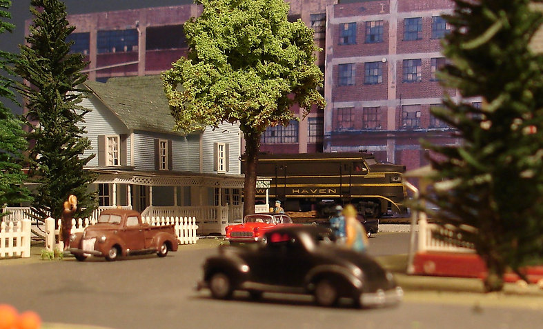 model railroad background buildings and backdrops