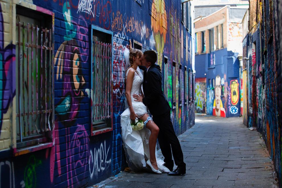huwelijk urban locatie grafitti