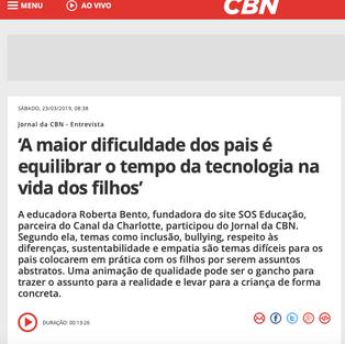 RADIO CBN SP - USO DA TECNOLOGIA