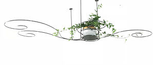 off the ceiling planter