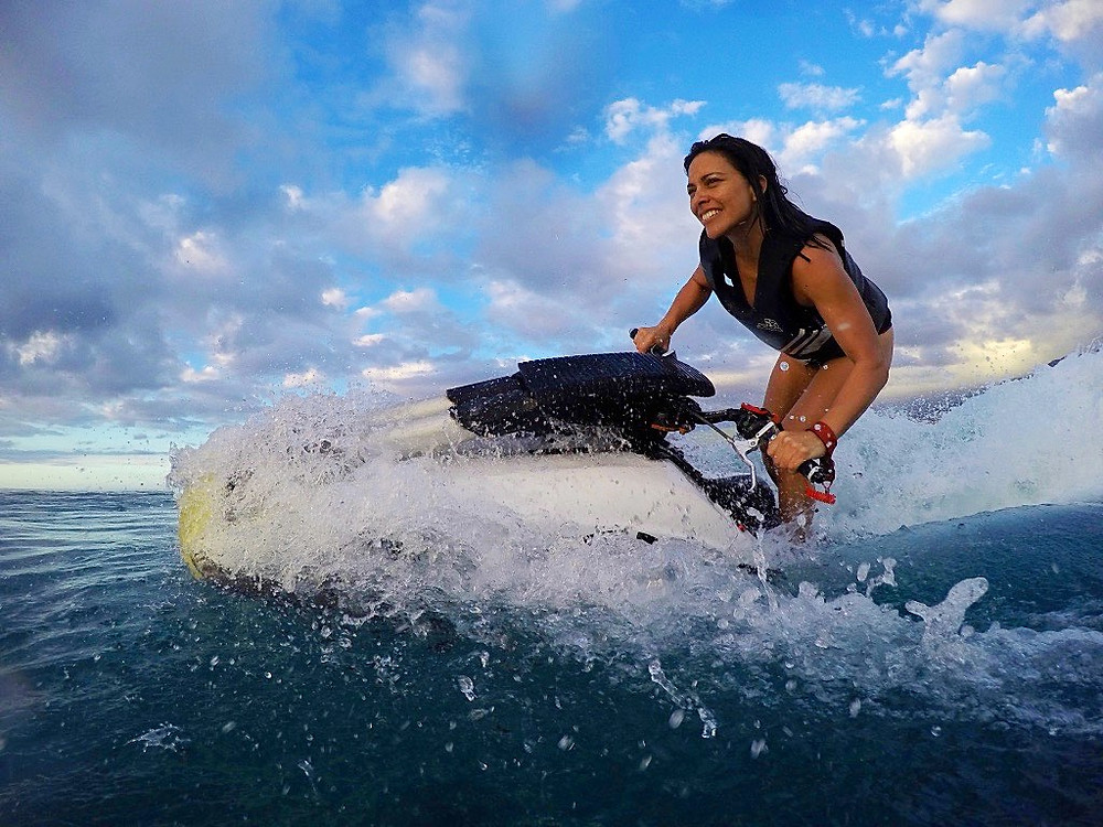 Jetski free ride, initiation, Faa'a TAHITI 2015. © M.Courtois