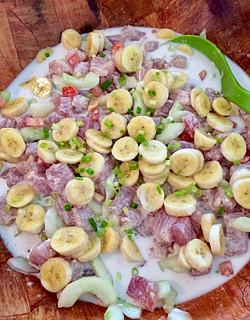Tahitian raw fish salad