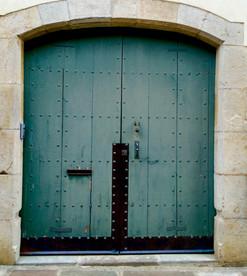 La porte bleue...